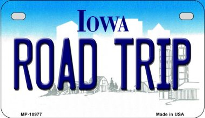 Road Trip Iowa Wholesale Novelty Metal Motorcycle Plate MP-10977