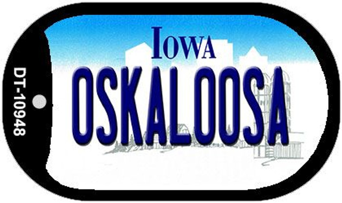 Oskaloosa Iowa Wholesale Novelty Metal Dog Tag Necklace DT-10948
