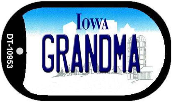 Grandma Iowa Wholesale Novelty Metal Dog Tag Necklace DT-10953