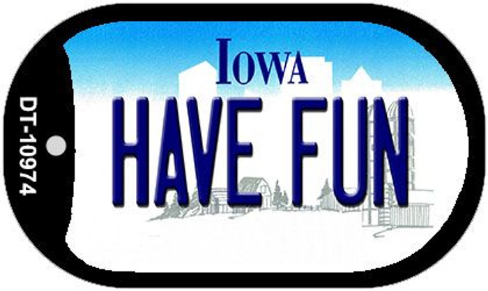 Have Fun Iowa Wholesale Novelty Metal Dog Tag Necklace DT-10974