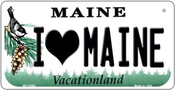I Love Maine Wholesale Novelty Metal Bicycle Plate BP-10384