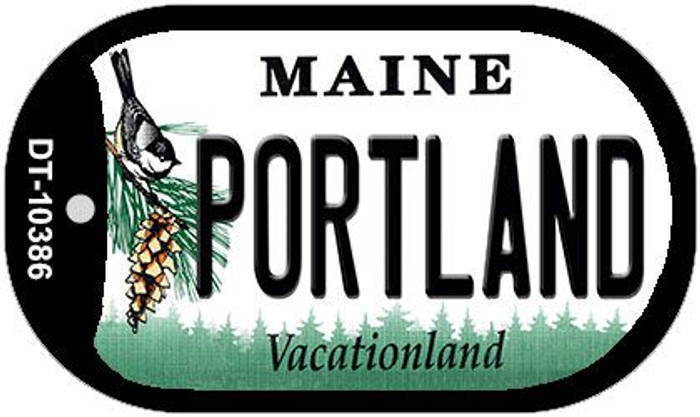Portland Maine Wholesale Novelty Metal Dog Tag Necklace DT-10386