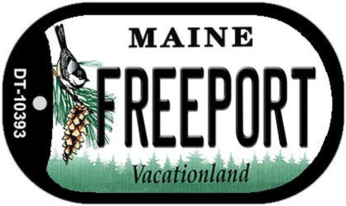Freeport Maine Wholesale Novelty Metal Dog Tag Necklace DT-10393