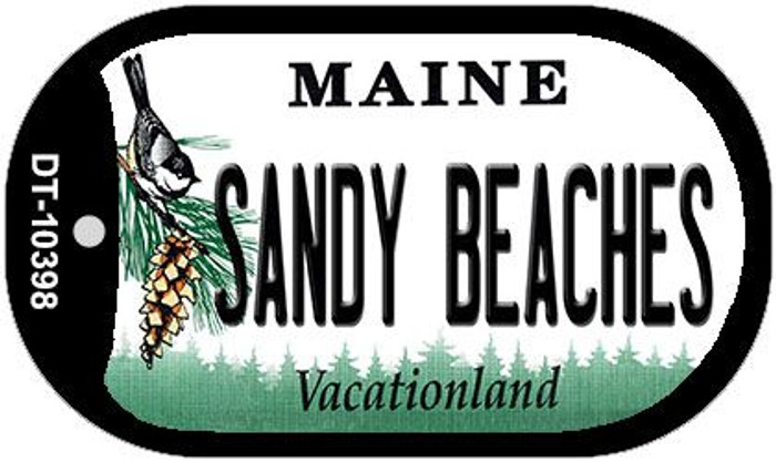 Sandy Beaches Maine Wholesale Novelty Metal Dog Tag Necklace DT-10398