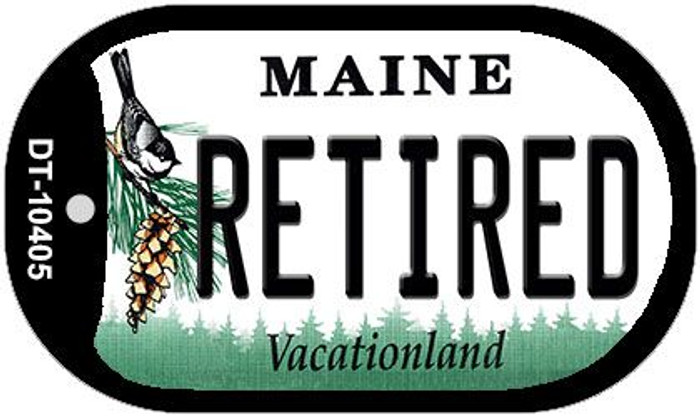 Retired Maine Wholesale Novelty Metal Dog Tag Necklace DT-10405