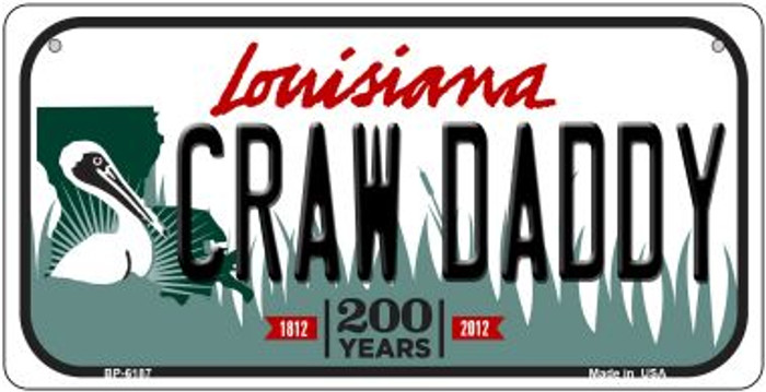 Craw Daddy Louisiana Wholesale Novelty Metal Bicycle Plate BP-6187
