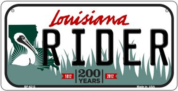 Rider Louisiana Wholesale Novelty Metal Bicycle Plate BP-6213