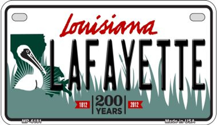Lafayette Louisiana Wholesale Novelty Metal Motorcycle Plate MP-6181