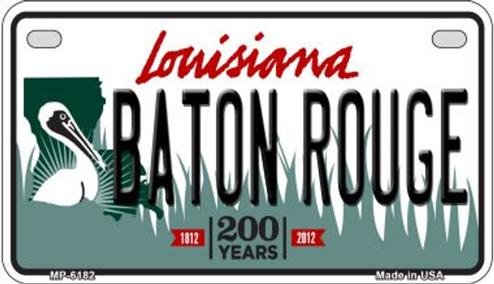 Baton Rouge Louisiana Wholesale Novelty Metal Motorcycle Plate MP-6182