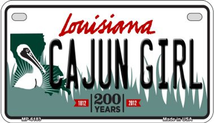 Cajun Girl Louisiana Wholesale Novelty Metal Motorcycle Plate MP-6183