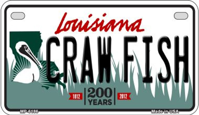 Craw Fish Louisiana Wholesale Novelty Metal Motorcycle Plate MP-6186