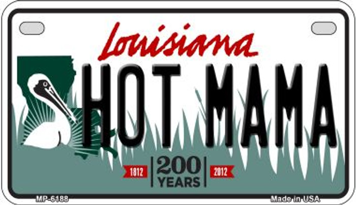 Hot Mama Louisiana Wholesale Novelty Metal Motorcycle Plate MP-6188