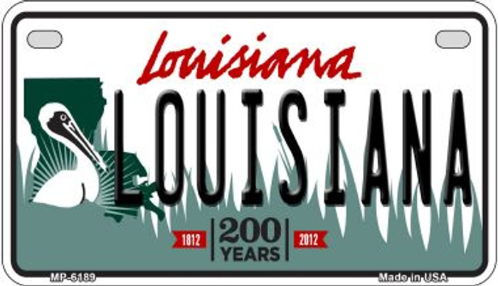 Louisiana Louisiana Wholesale Novelty Metal Motorcycle Plate MP-6189