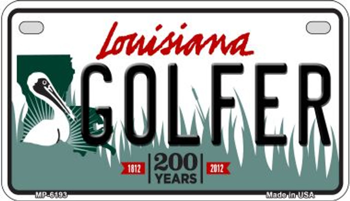 Golfer Louisiana Wholesale Novelty Metal Motorcycle Plate MP-6193