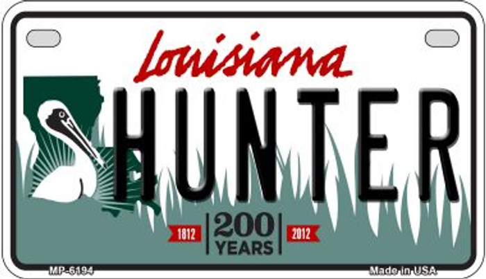Hunter Louisiana Wholesale Novelty Metal Motorcycle Plate MP-6194