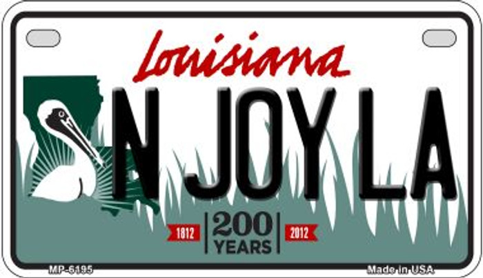 N Joy LA Louisiana Wholesale Novelty Metal Motorcycle Plate MP-6195