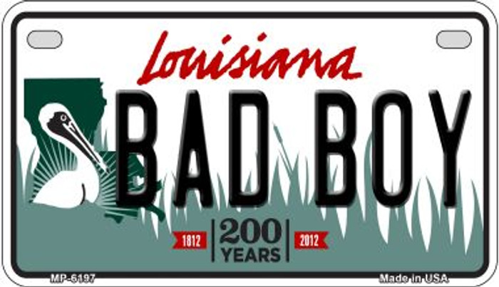 Bad Boy Louisiana Wholesale Novelty Metal Motorcycle Plate MP-6197