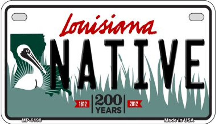 Native Louisiana Wholesale Novelty Metal Motorcycle Plate MP-6198