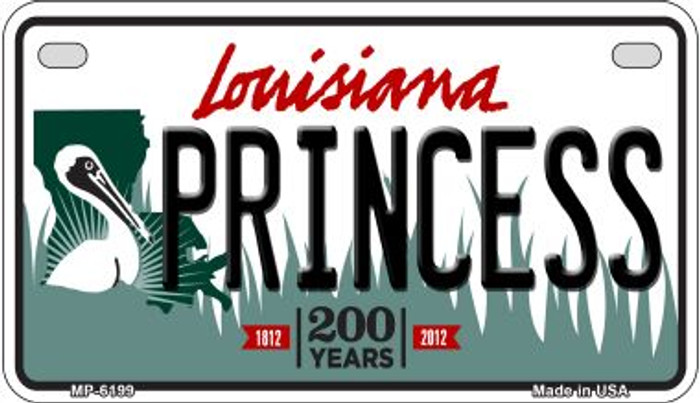 Princess Louisiana Wholesale Novelty Metal Motorcycle Plate MP-6199