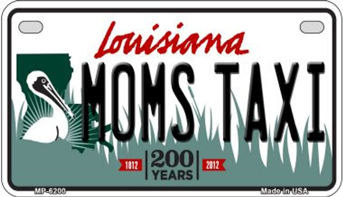 Moms Taxi Louisiana Wholesale Novelty Metal Motorcycle Plate MP-6200