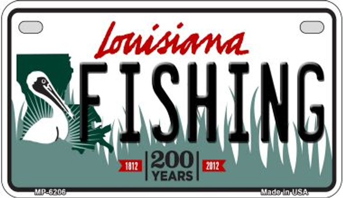Fishing Louisiana Wholesale Novelty Metal Motorcycle Plate MP-6206
