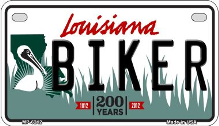 Biker Louisiana Wholesale Novelty Metal Motorcycle Plate MP-6212