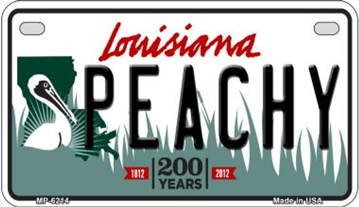 Peachy Louisiana Wholesale Novelty Metal Motorcycle Plate MP-6214