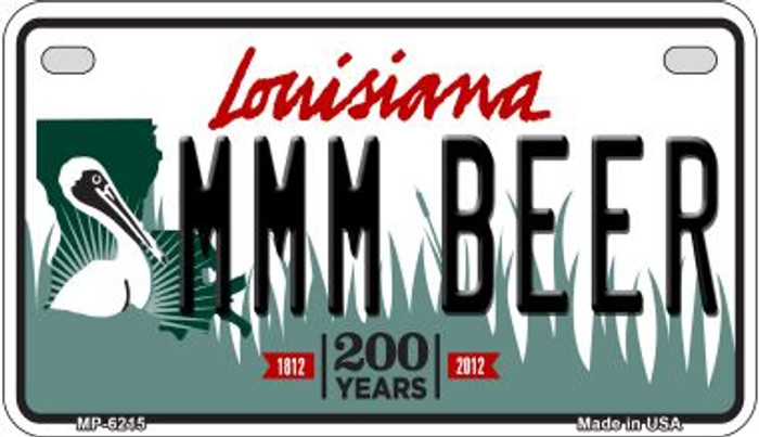 MMM Beer Louisiana Wholesale Novelty Metal Motorcycle Plate MP-6215