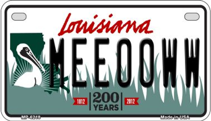 Meeooww Louisiana Wholesale Novelty Metal Motorcycle Plate MP-6218