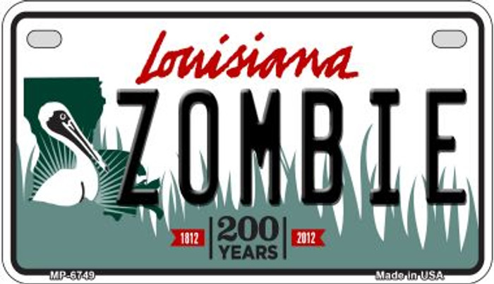 Zombie Louisiana Wholesale Novelty Metal Motorcycle Plate MP-6749
