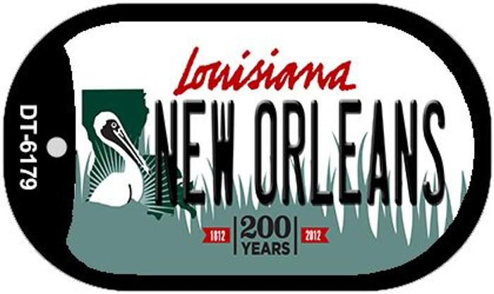 New Orleans Louisiana Wholesale Novelty Metal Dog Tag Necklace DT-6179