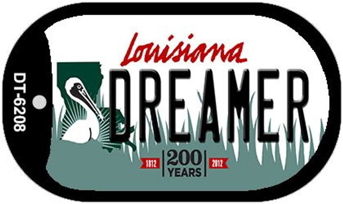 Dreamer Louisiana Wholesale Novelty Metal Dog Tag Necklace DT-6208