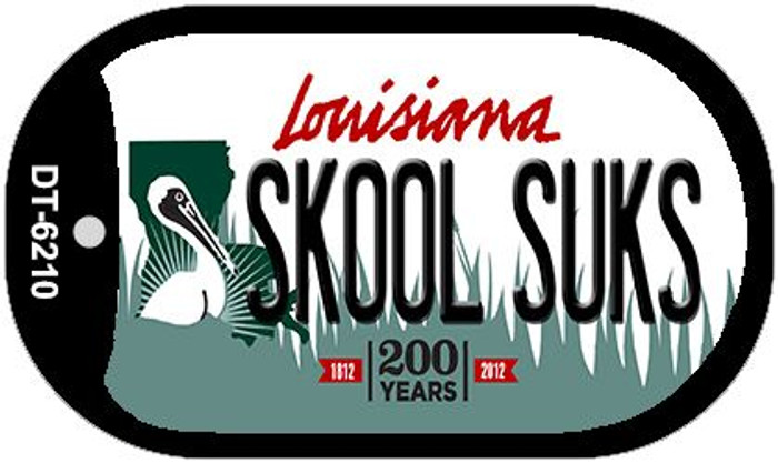 Skool Suks Louisiana Wholesale Novelty Metal Dog Tag Necklace DT-6210