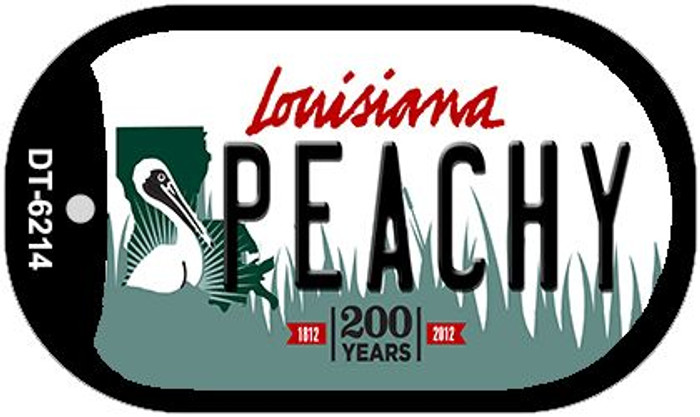 Peachy Louisiana Wholesale Novelty Metal Dog Tag Necklace DT-6214