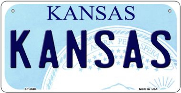 Kansas Wholesale Novelty Metal Bicycle Plate BP-6600