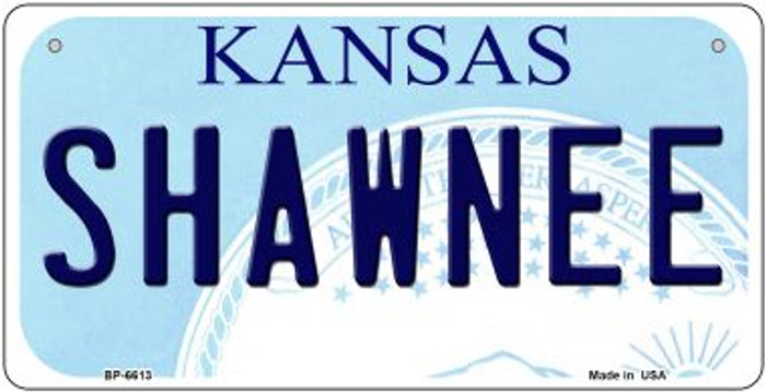 Shawnee Kansas Wholesale Novelty Metal Bicycle Plate BP-6613