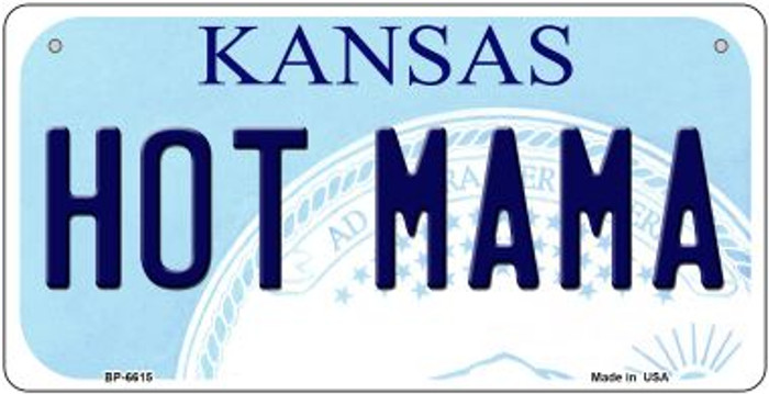 Hot Mama Kansas Wholesale Novelty Metal Bicycle Plate BP-6615