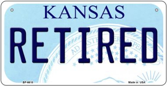 Retired Kansas Wholesale Novelty Metal Bicycle Plate BP-6618