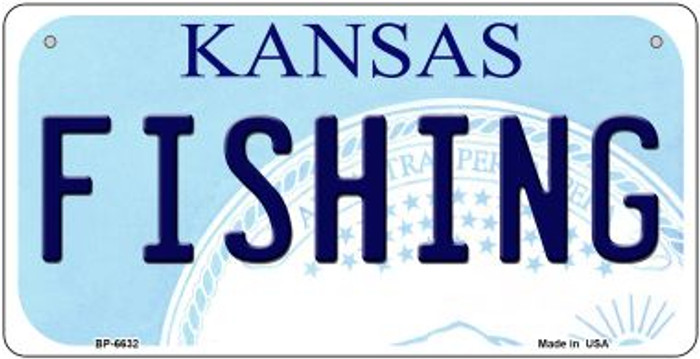 Fishing Kansas Wholesale Novelty Metal Bicycle Plate BP-6632
