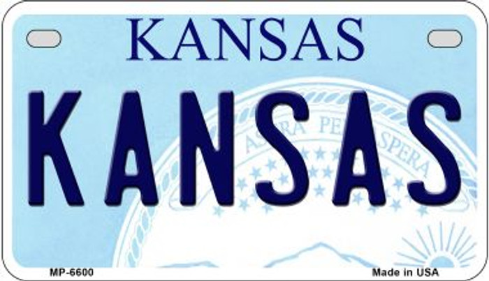 Kansas Wholesale Novelty Metal Motorcycle Plate MP-6600