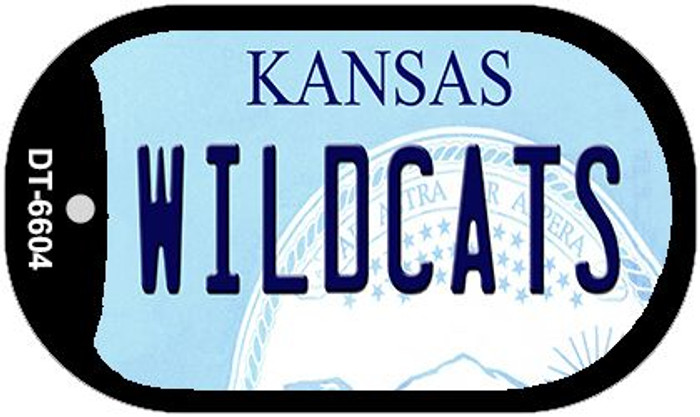 Wildcats Kansas Wholesale Novelty Metal Dog Tag Necklace DT-6604