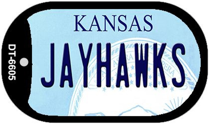 Jayhawks Kansas Wholesale Novelty Metal Dog Tag Necklace DT-6605