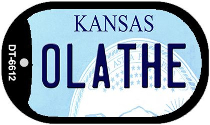 Olathe Kansas Wholesale Novelty Metal Dog Tag Necklace DT-6612