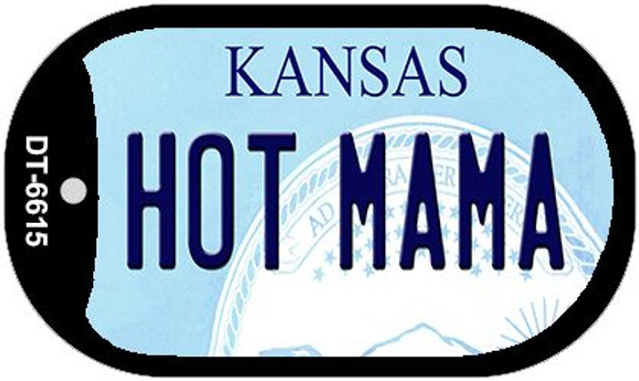 Hot Mama Kansas Wholesale Novelty Metal Dog Tag Necklace DT-6615
