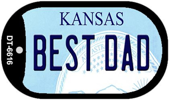 Best Dad Kansas Wholesale Novelty Metal Dog Tag Necklace DT-6616