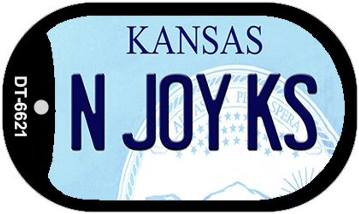 N Joy KS Kansas Wholesale Novelty Metal Dog Tag Necklace DT-6621