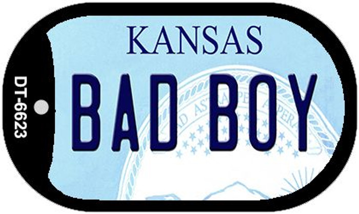 Bad Boy Kansas Wholesale Novelty Metal Dog Tag Necklace DT-6623