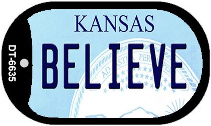 Believe Kansas Wholesale Novelty Metal Dog Tag Necklace DT-6635