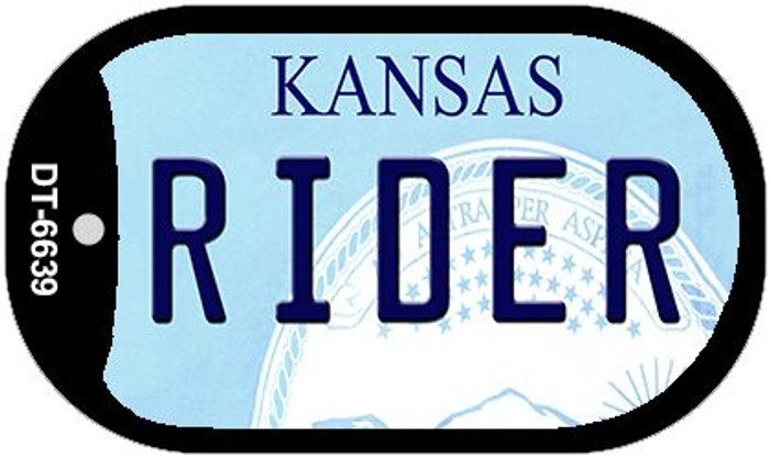Rider Kansas Wholesale Novelty Metal Dog Tag Necklace DT-6639