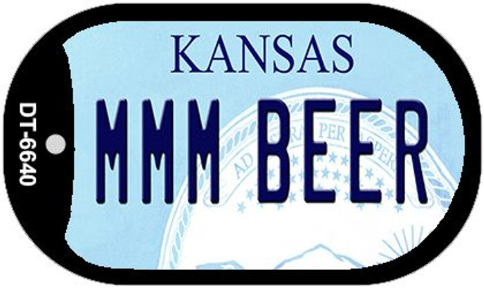 MMM Beer Kansas Wholesale Novelty Metal Dog Tag Necklace DT-6640